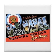 San Diego Naval Base Tile Coaster