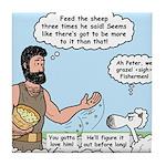 Peter Feeding Sheep Tile Coaster