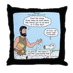 Peter Feeding Sheep Throw Pillow