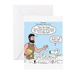 Peter Feeding Sheep Greeting Cards (Pk of 10)