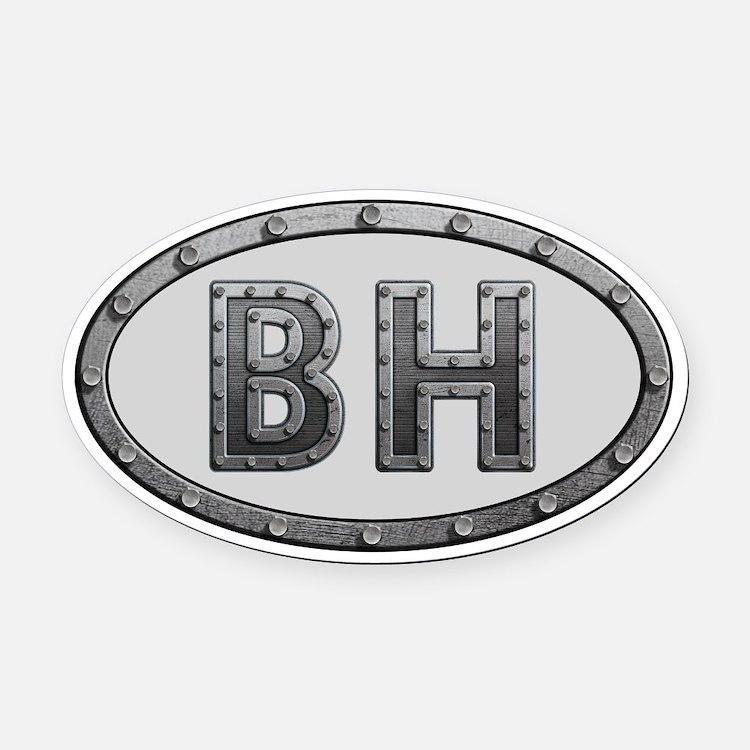 BH Metal Oval Car Magnet