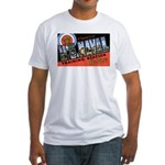 San Diego Naval Base (Front) Fitted T-Shirt