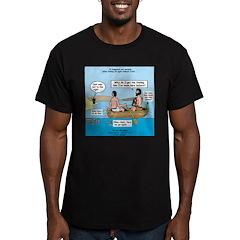 Fishing Again! Men's Fitted T-Shirt (dark)