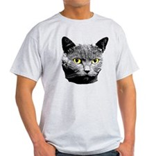 Cat with Yellow Eyes T-Shirt