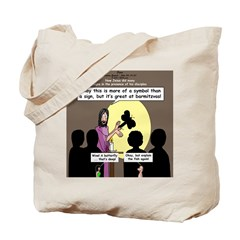 Jesus Signs and Symbols Tote Bag