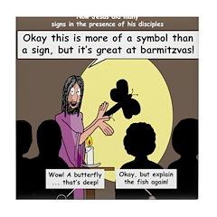 Jesus Signs and Symbols Tile Coaster