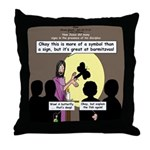 Jesus Signs and Symbols Throw Pillow
