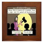 Jesus Signs and Symbols Framed Tile