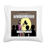 Jesus Signs and Symbols Square Canvas Pillow
