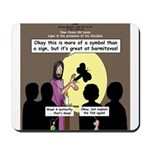 Jesus Signs and Symbols Mousepad