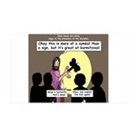 Jesus Signs and Symbols 35x21 Wall Decal