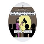 Jesus Signs and Symbols Ornament (Oval)