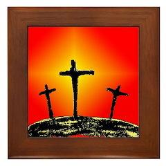 Three Crosses Framed Tile