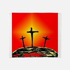 Three Crosses Throw Blanket