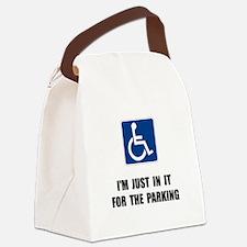 Handicap Parking Canvas Lunch Bag