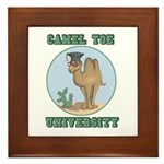 Camel Toe University Framed Tile
