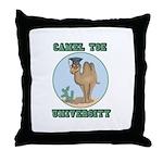 Camel Toe University Throw Pillow