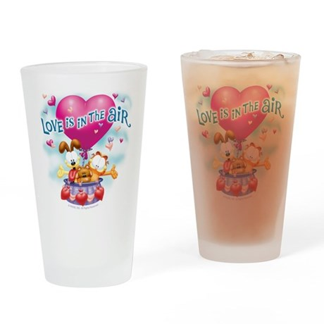 Love is in the Air Drinking Glass
