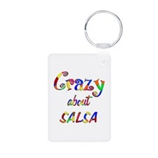 Crazy About Salsa Aluminum Photo Keychain