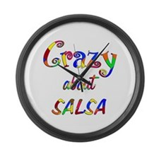 Crazy About Salsa Large Wall Clock