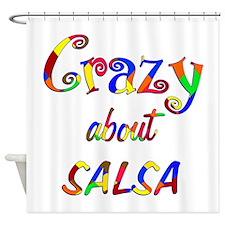 Crazy About Salsa Shower Curtain