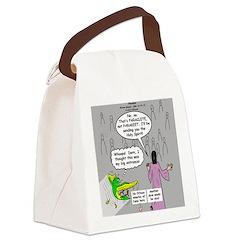 Parakeet vs Paraclete Canvas Lunch Bag