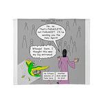 Parakeet vs Paraclete Throw Blanket