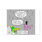 Parakeet vs Paraclete Postcards (Package of 8)
