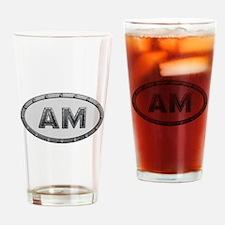 AM Metal Drinking Glass