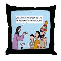 Peter's Fruit Hat Throw Pillow