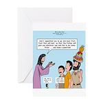 Peter's Fruit Hat Greeting Card