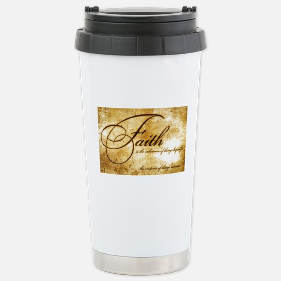 faith is gold vintage Stainless Steel Travel Mug