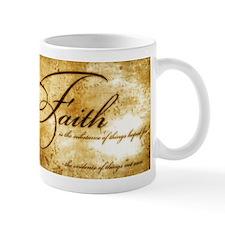 faith is gold vintage Mug