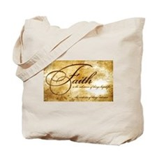 faith is gold vintage Tote Bag