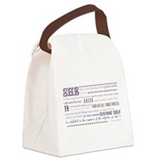 Goddess Charge 2 (purp-gray) Canvas Lunch Bag