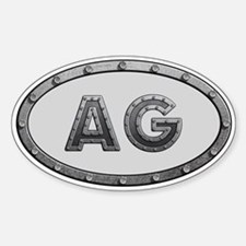 AG Metal Sticker (Oval)