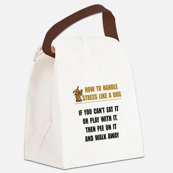 Stress Like Dog Canvas Lunch Bag