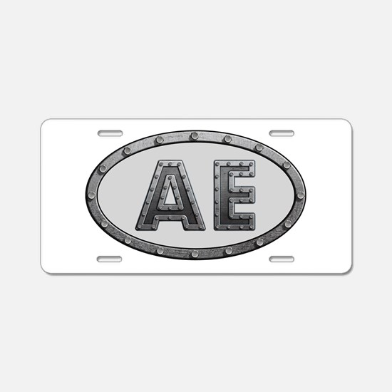 AE Metal Aluminum License Plate