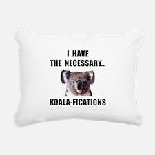 Koala Qualifications Rectangular Canvas Pillow