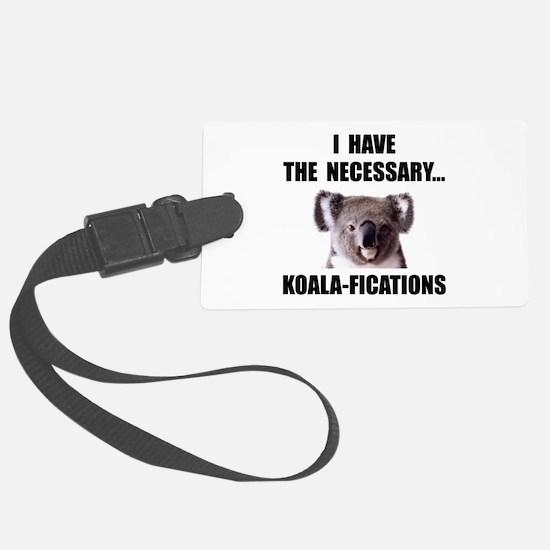Koala Qualifications Luggage Tag