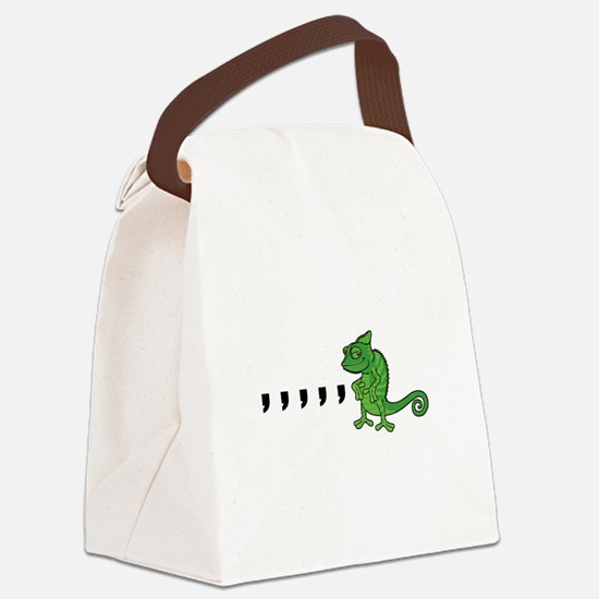 Comma Chameleon Canvas Lunch Bag