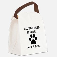 Need Love Dog Canvas Lunch Bag