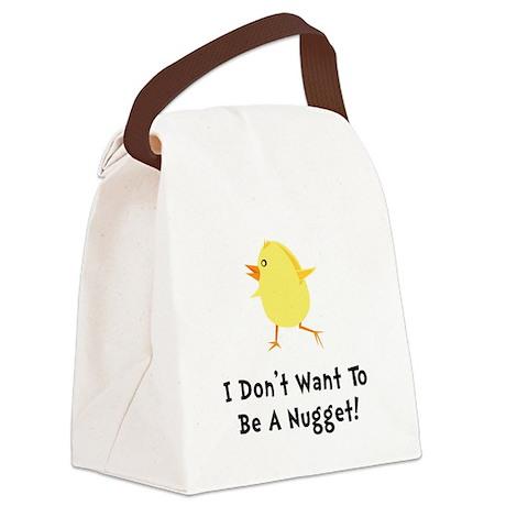 Chicken Nugget Canvas Lunch Bag
