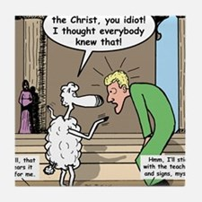 Sheep Knows Tile Coaster