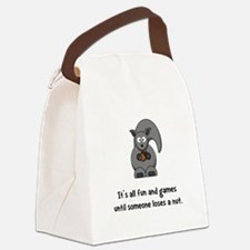 Squirrel Nut Black.png Canvas Lunch Bag