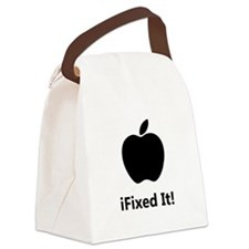 iFixed It Apple Canvas Lunch Bag