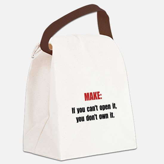 Make Motto Canvas Lunch Bag