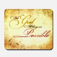 with god gold vintage Mousepad