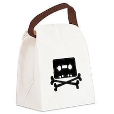Cassette Jolly Roger Black Canvas Lunch Bag
