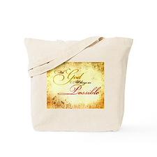 with god gold vintage Tote Bag